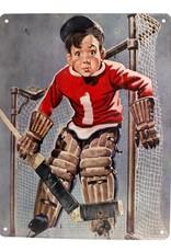 Vintage Metal Hockey Print