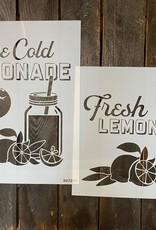 Ice Cold Lemonade Stencil -Option A
