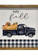 Hello Fall Wall Plaque