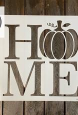 Home w/Pumpkin Stencil - Small