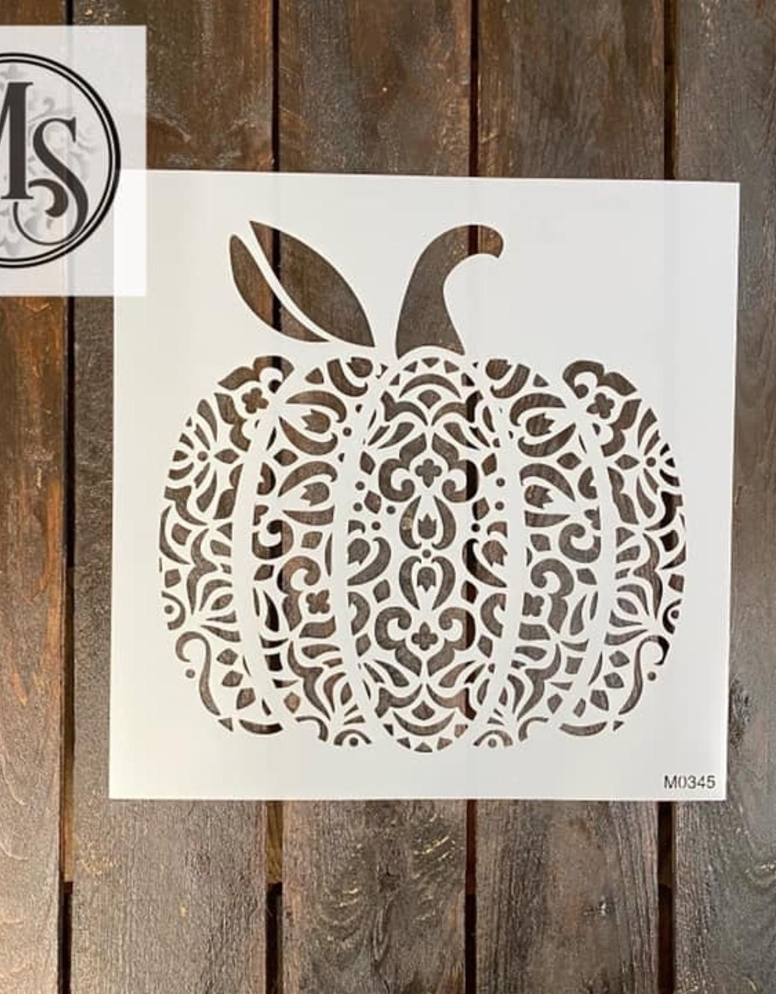Pumpkin Mandala Stencil