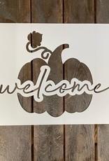 Welcome w/Pumpkin Stencil