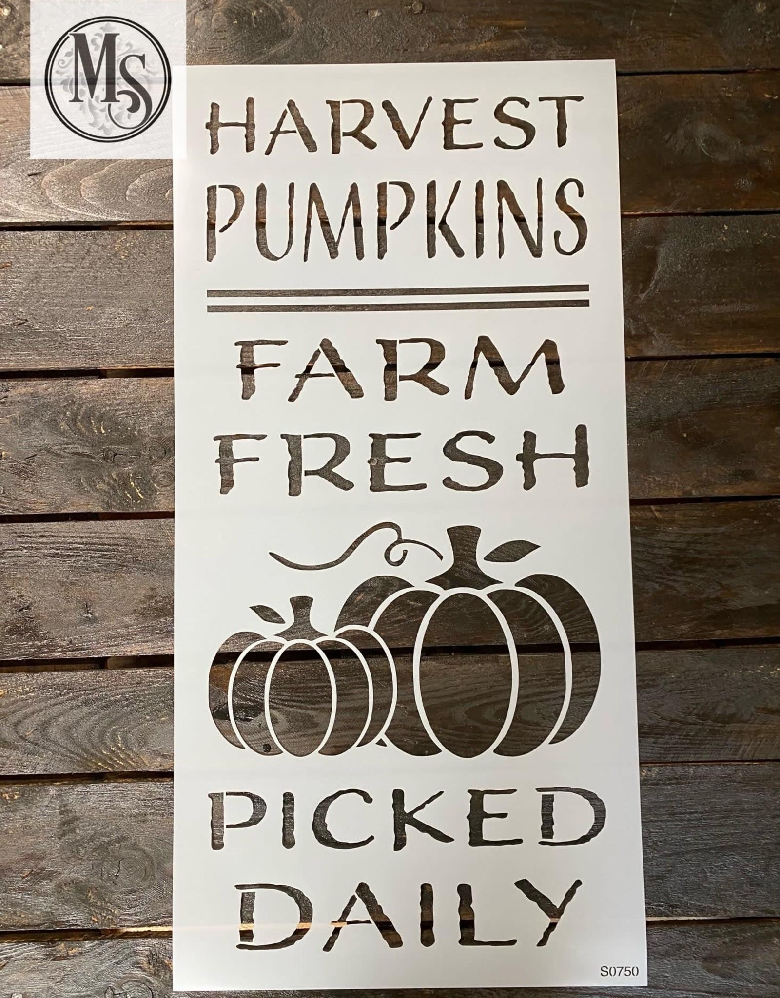 Harvest Pumpkins - Sign Stencil
