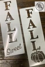 Fall Sweet Fall Sign Stencil -medium