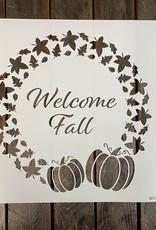 Welcome Fall Wreath Stencil