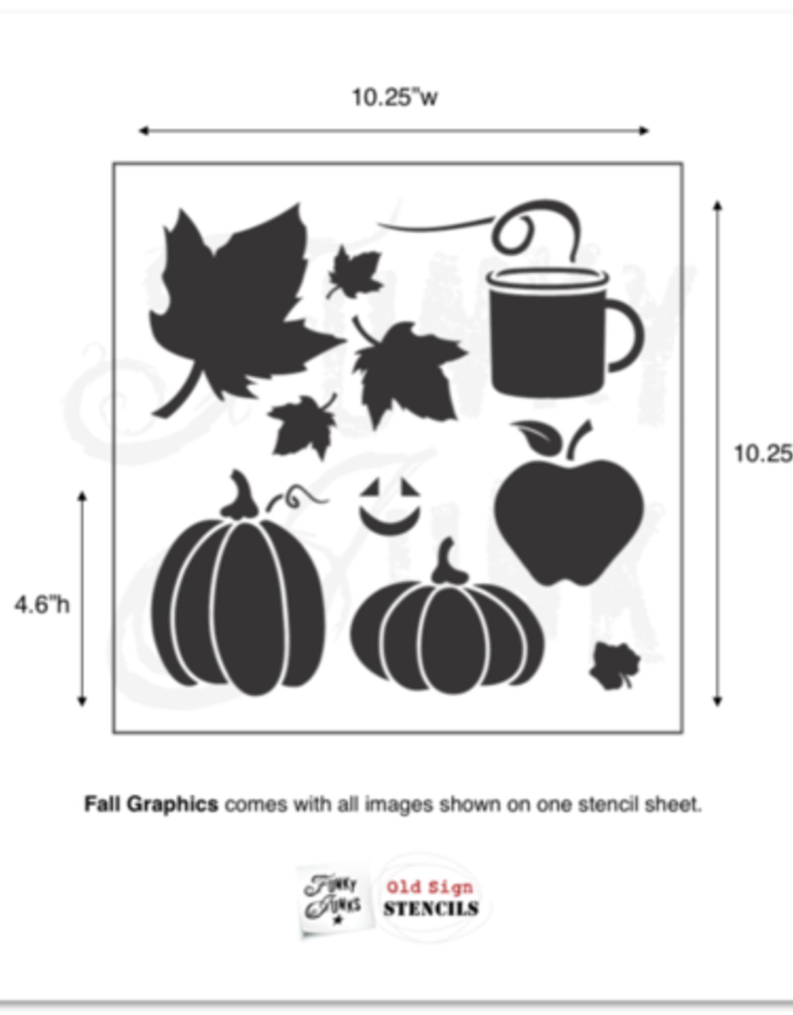 Funky Junk's Fall Graphics Stencil