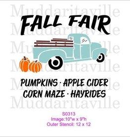Fall Fair Stencil