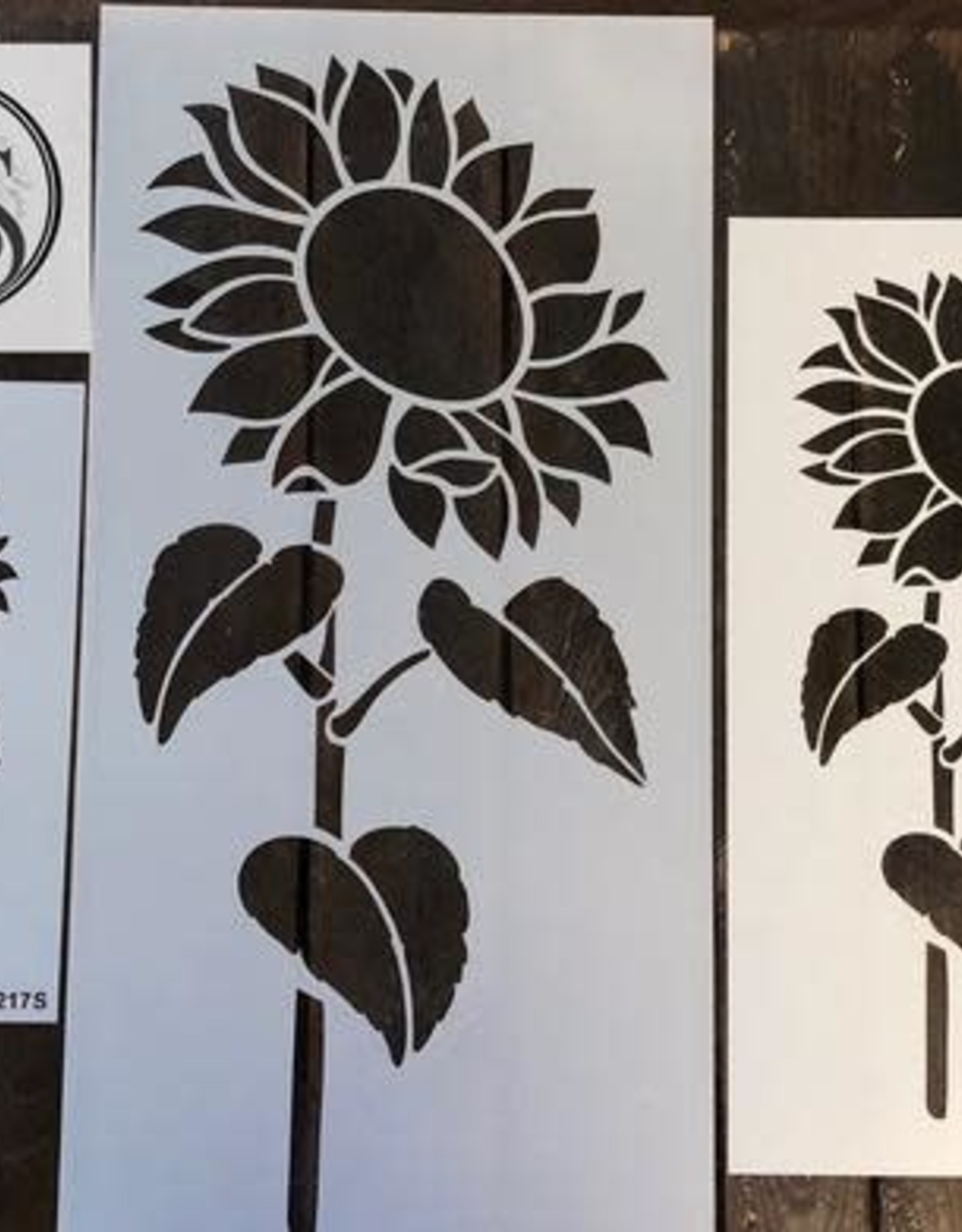 Sunflower #2 with Stem Stencil -small