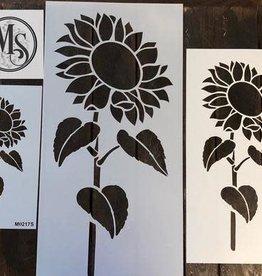 Sunflower #2 with Stem Stencil -medium