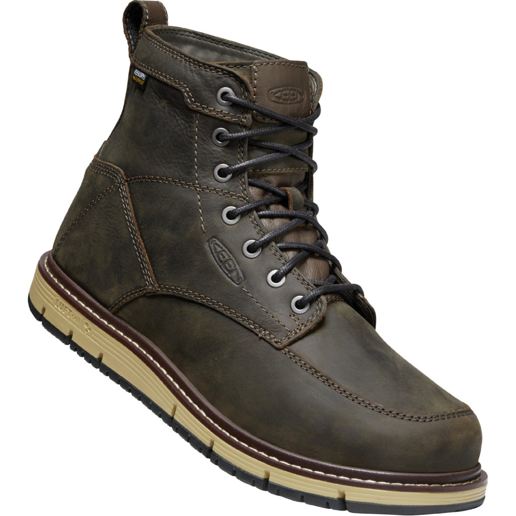 "Keen Men's Keen 6"" Waterproof Soft Toe San Jose Cascade Brown/Black 1023203"