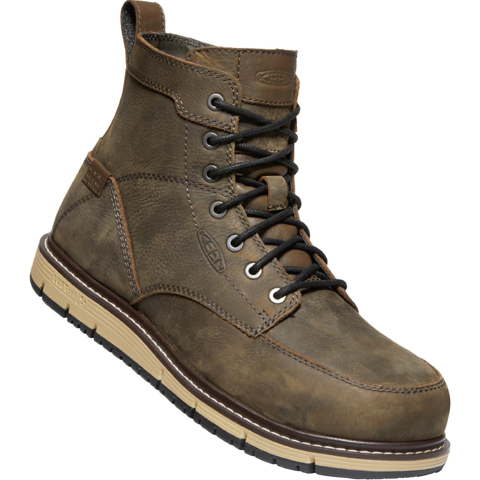 "Keen Men's Keen 6"" Waterproof Aluminum Toe San Jose Cascade Brown/Black 1022106"