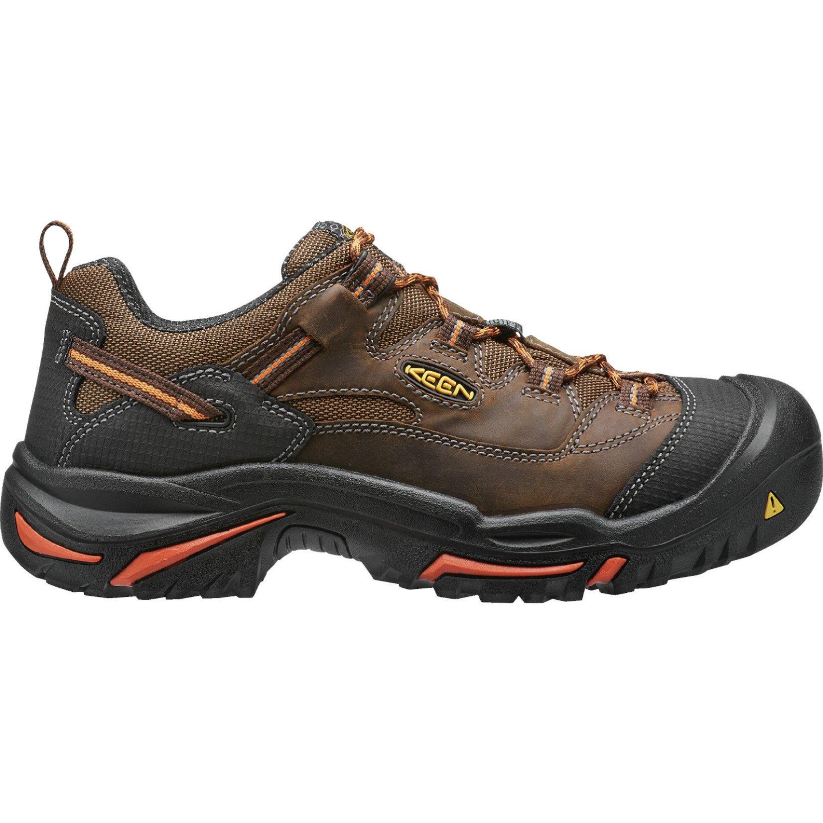 Keen Men's Keen Soft Toe Braddock Low American Built Cascade/Orange Ochre 1014606