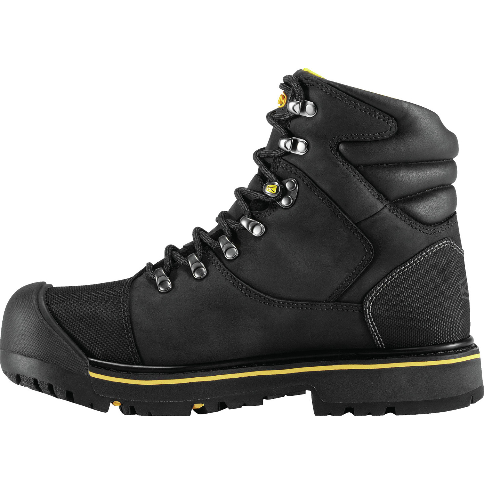 "Keen Men's Keen 6"" Steel Toe Waterproof Milwaukee Black 1009173"