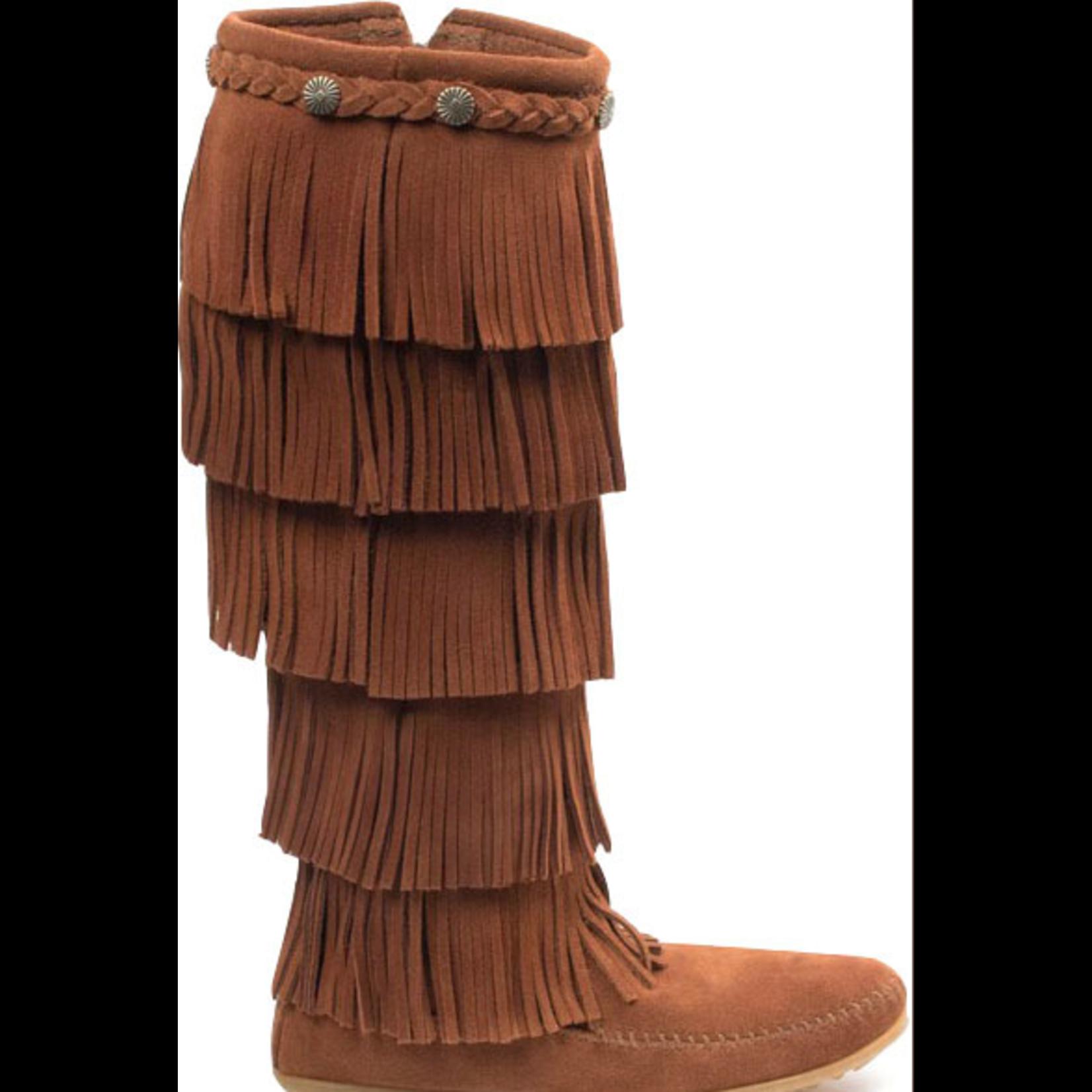 Minnetonka Women's Minnetonka 5 Layer Fringe Boot Brown 1652