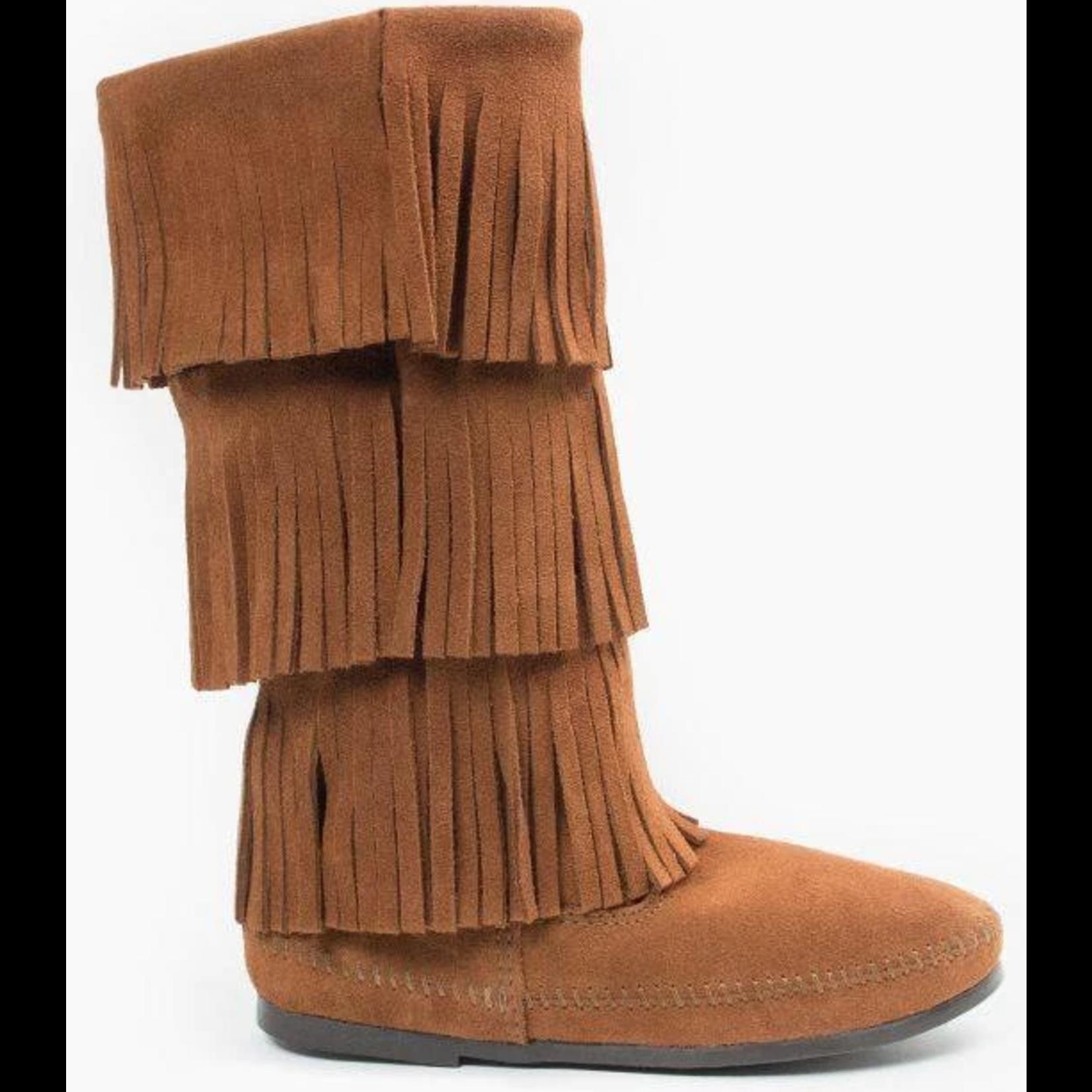 Minnetonka Women's Minnetonka 3 Layer Fringe Boot Brown 1632