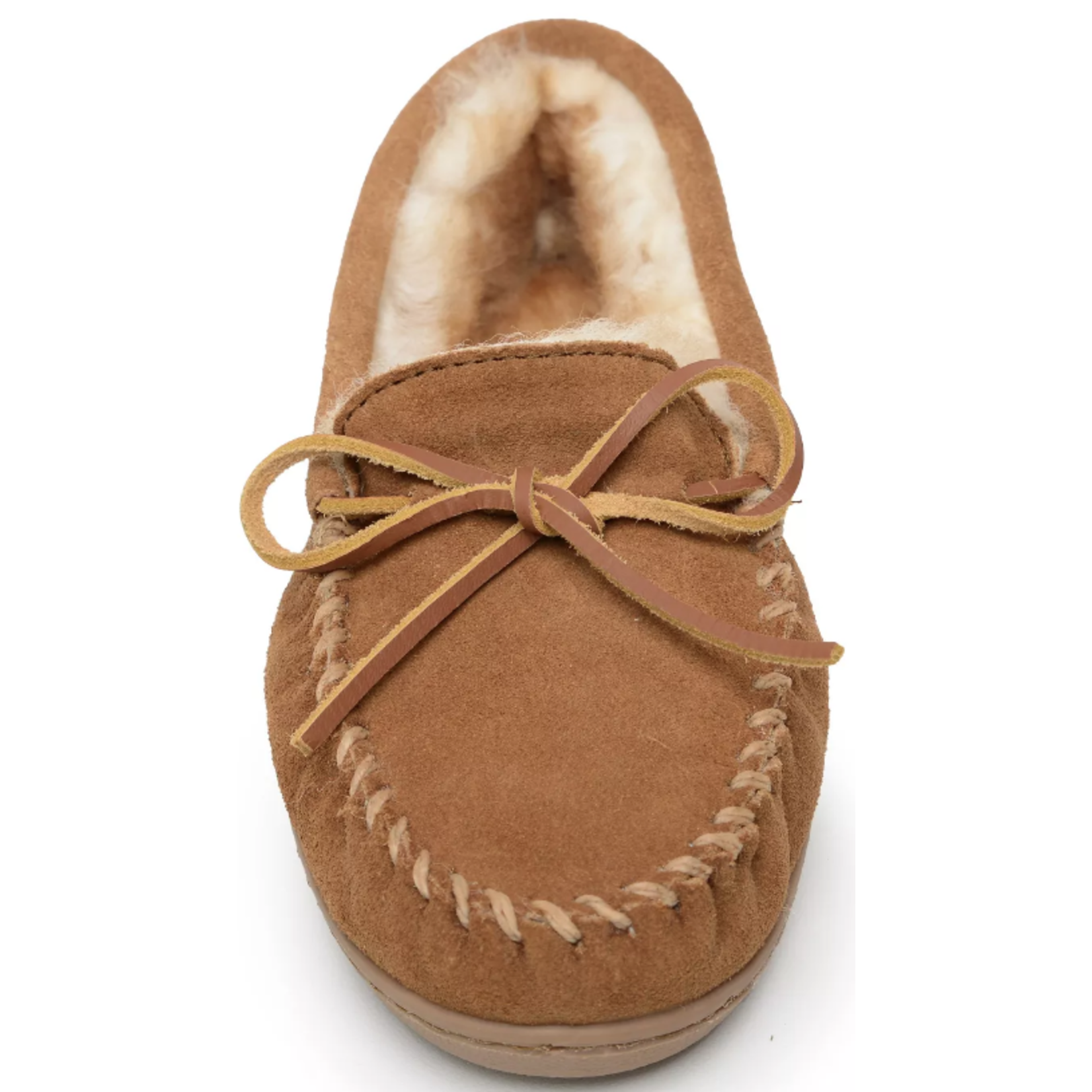 Minnetonka Women's Minnetonka Sheepskin Hard sole Moc Tan 3341