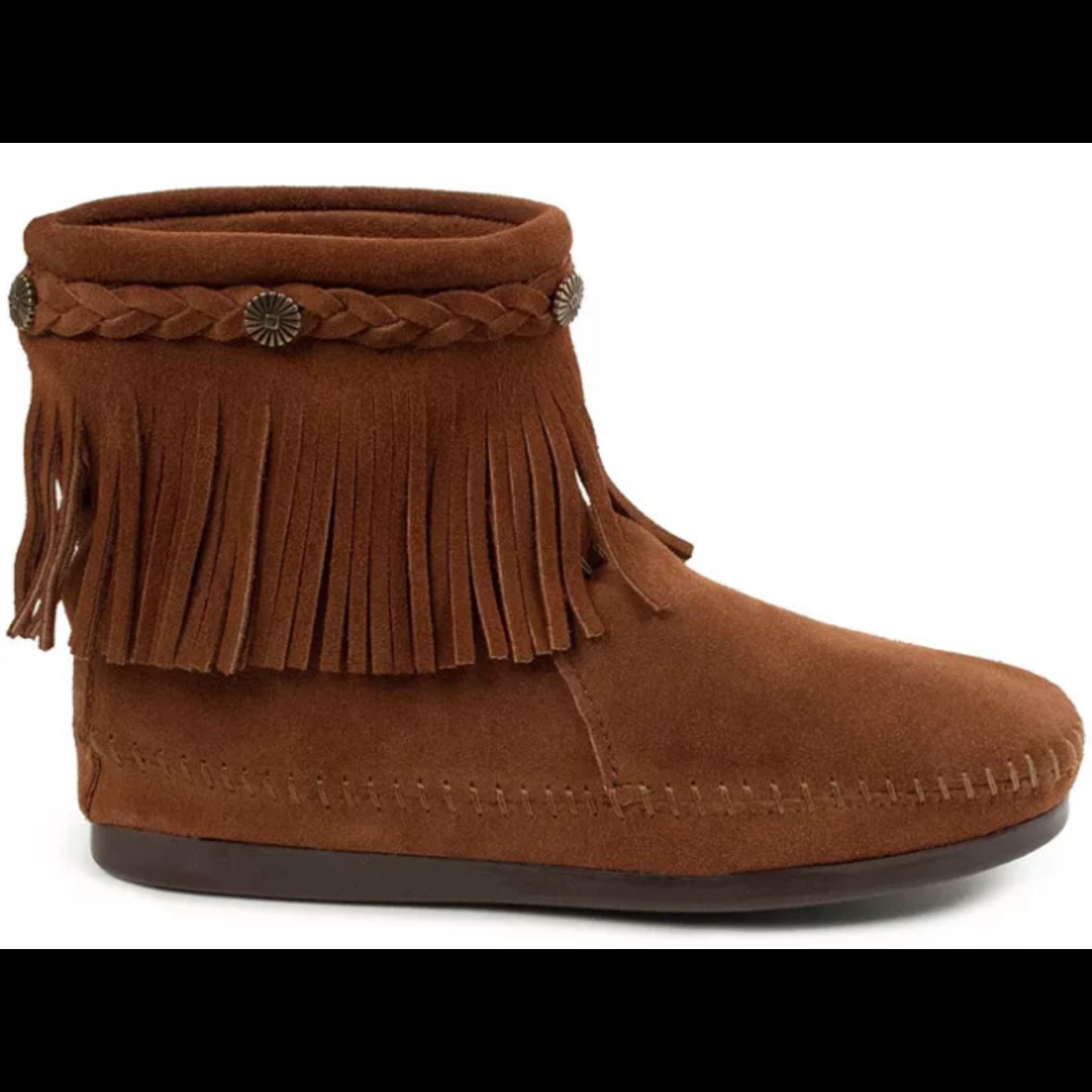 Minnetonka Women's Minnetonka High Top Back zip Boot Brown 292