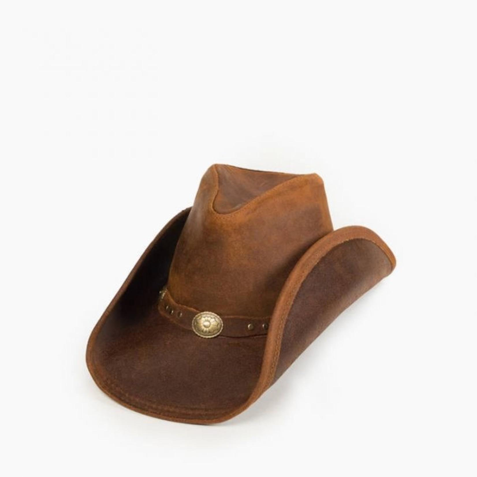 Minnetonka Minnetonka Silverton Dude Hat Brown Ruff 9613