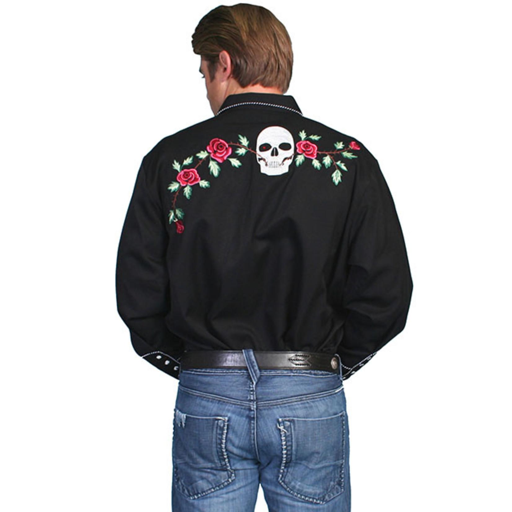 Men's Scully Roses & Skulls P-771