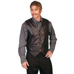 Men's Scully Black Leather Vest 507 - 144
