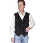 Men's Scully Black Suede Vest 507 - 214