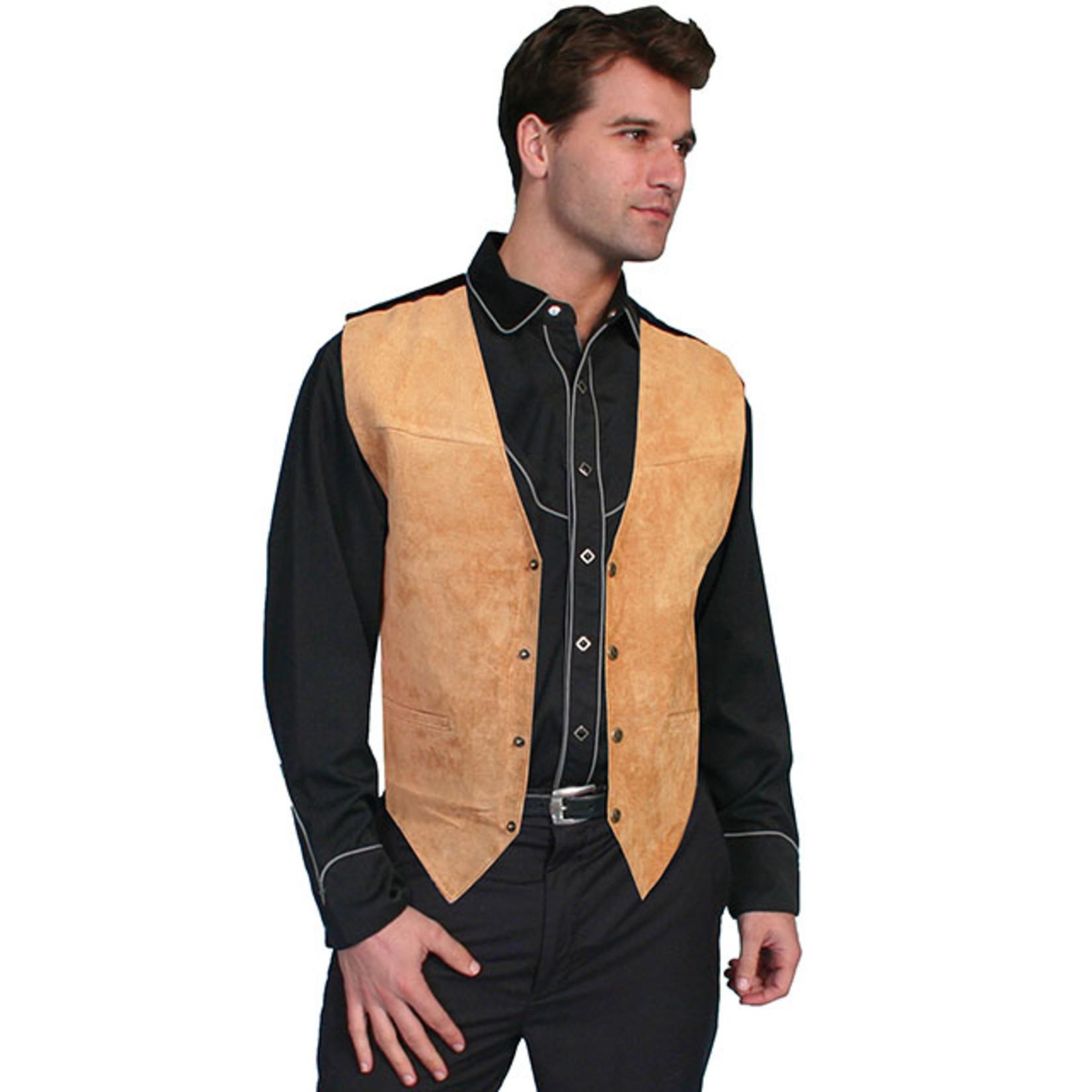 Men's Scully Bourbon Suede Vest 504 - 409