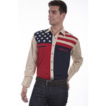 Men's Scully Antique Stars & Stripes P-756