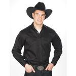 Men's Western Express Solid Color Western Shirt Black