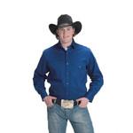 Men's Western Express Solid Color Western Shirt Royal Blue 800
