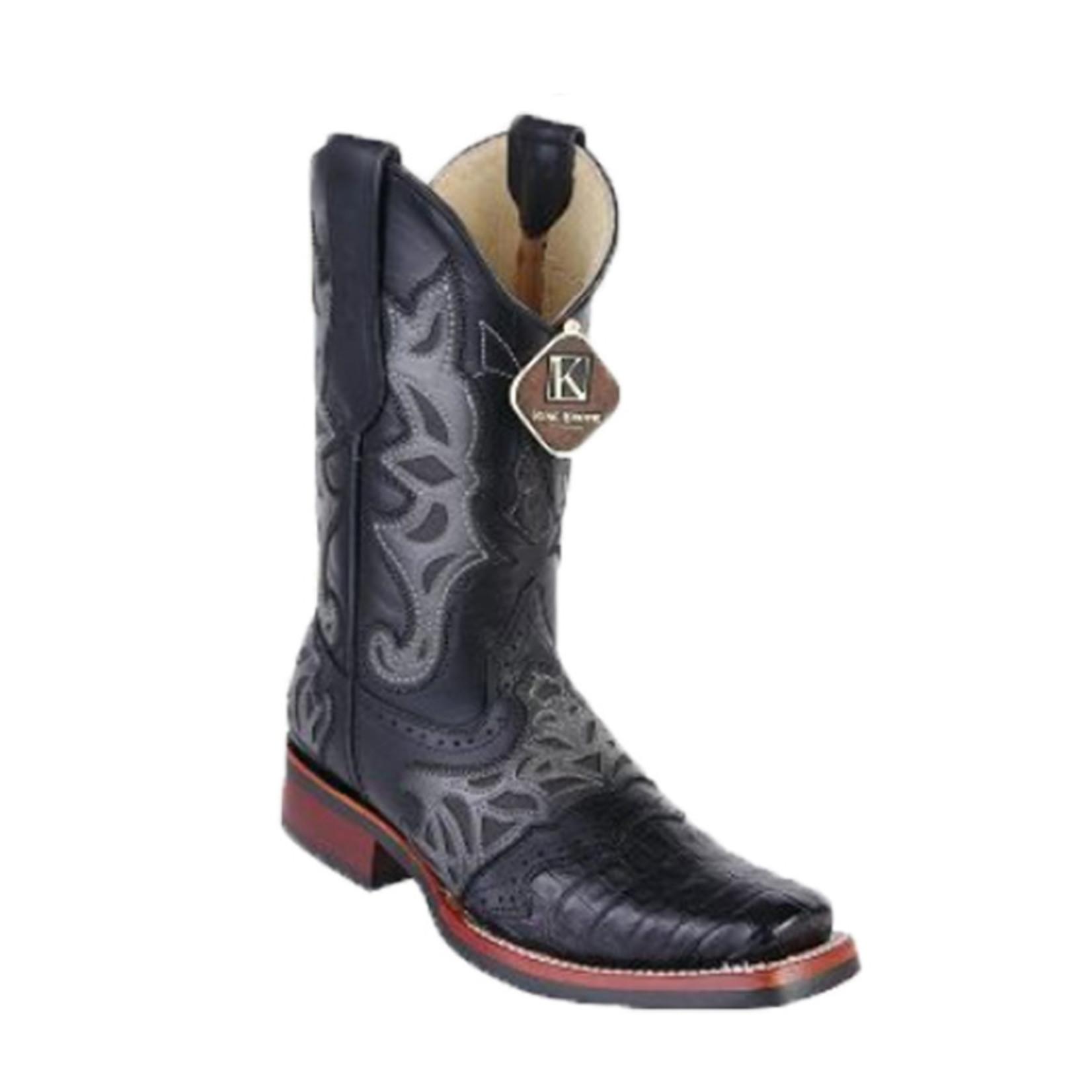 Men's Los Altos Rodeo Boot Caiman Belly Black 48118205