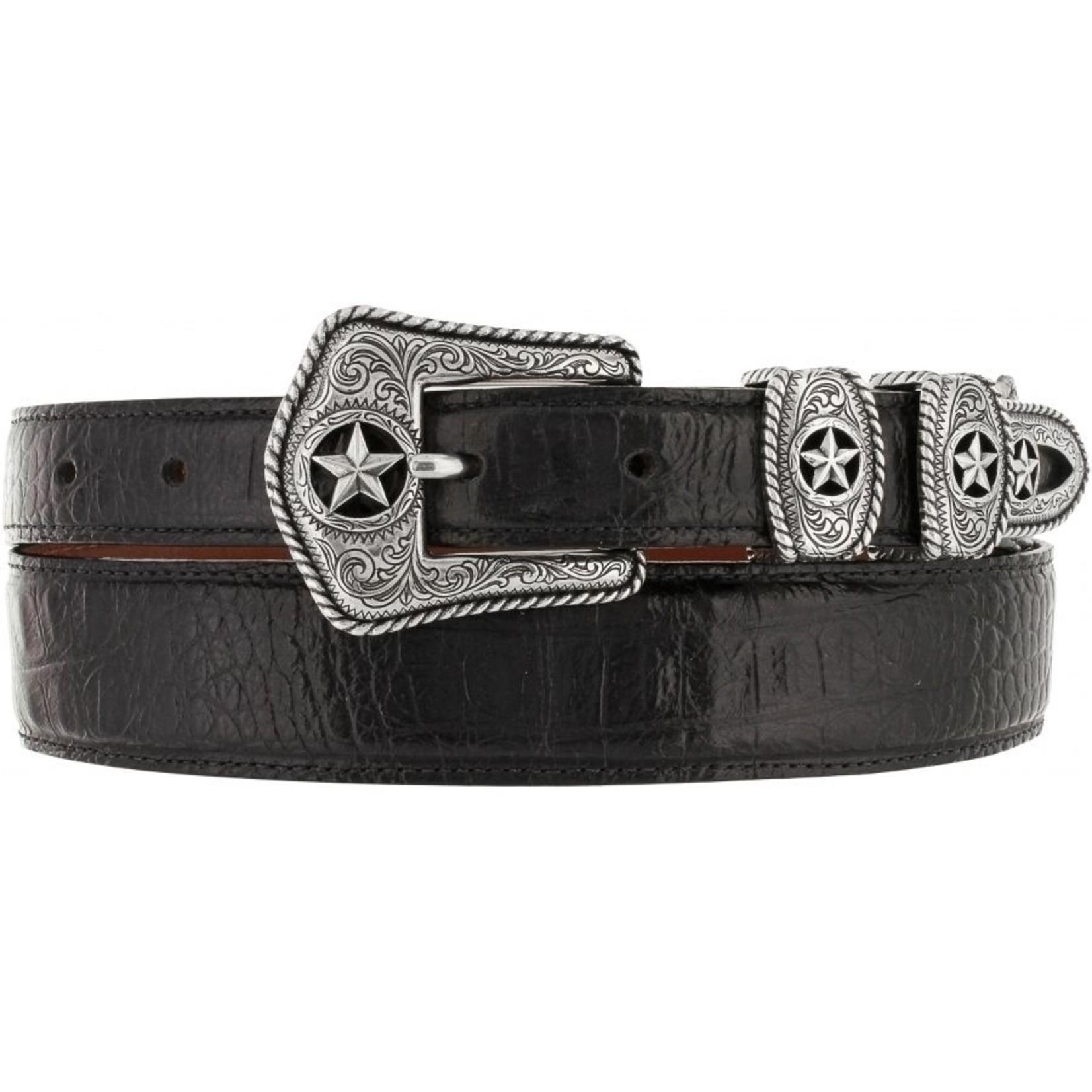 Leegin Tony Lama Country Croc Belt Black C42123