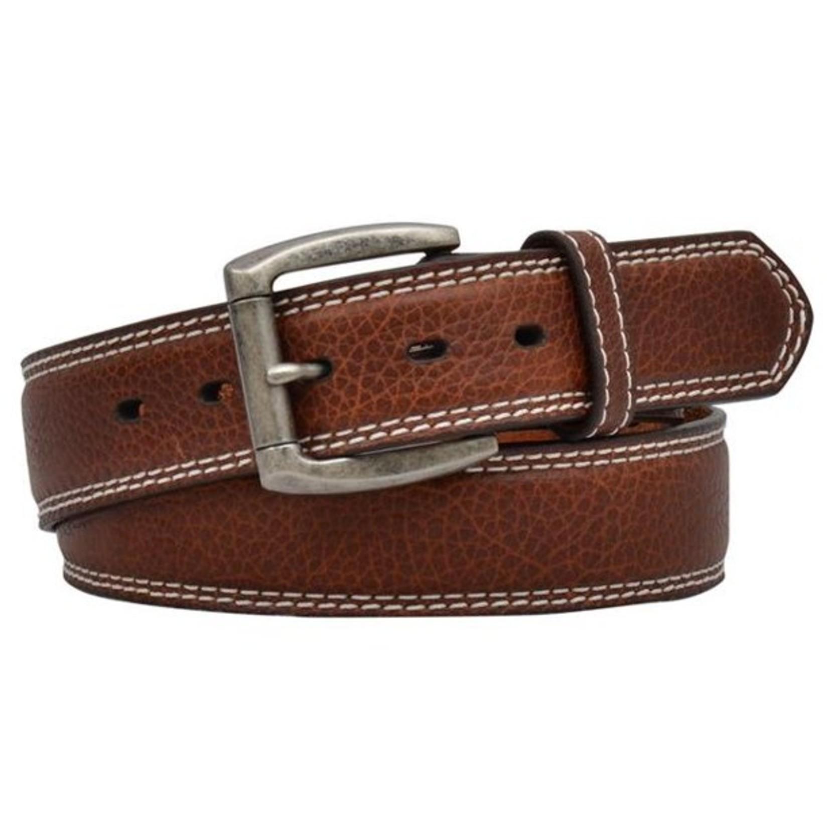 3D Watertown Amber Double Stitch Belt Brown D1199