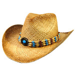 Crown Hat Crown Beads & Buttons Toasted Straw Natural 1322