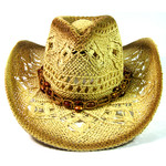 Crown Hat Crown Lightly Toasted & beads Straw  1440