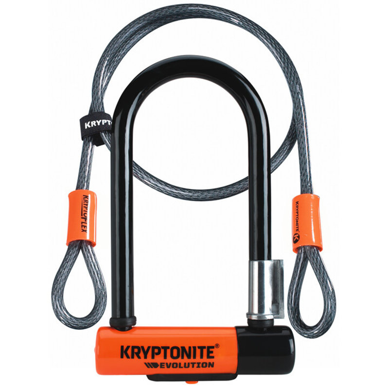 Kryptonite Lock - U - Kryptonite Evolution mini 7 w/4 cable