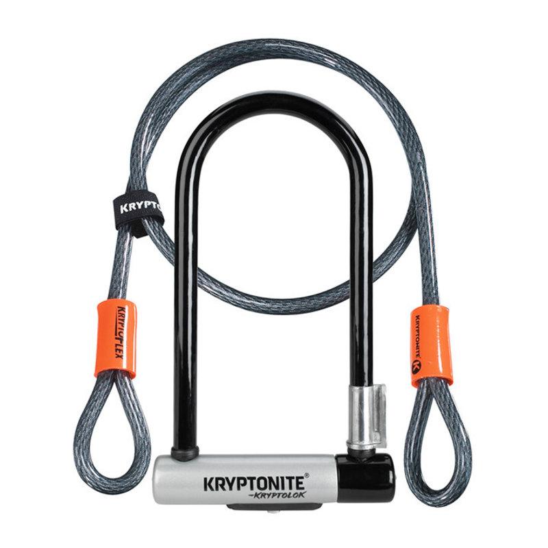 Kryptonite Lock - U/Cable - Kryptonite KryptoLok STD with 4' Flex - security 6