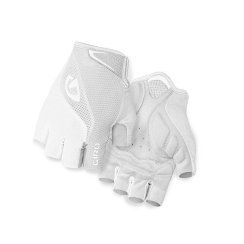 Giro Gloves - Half-Finger - Giro Bravo Gel Adult - M - White/Grey