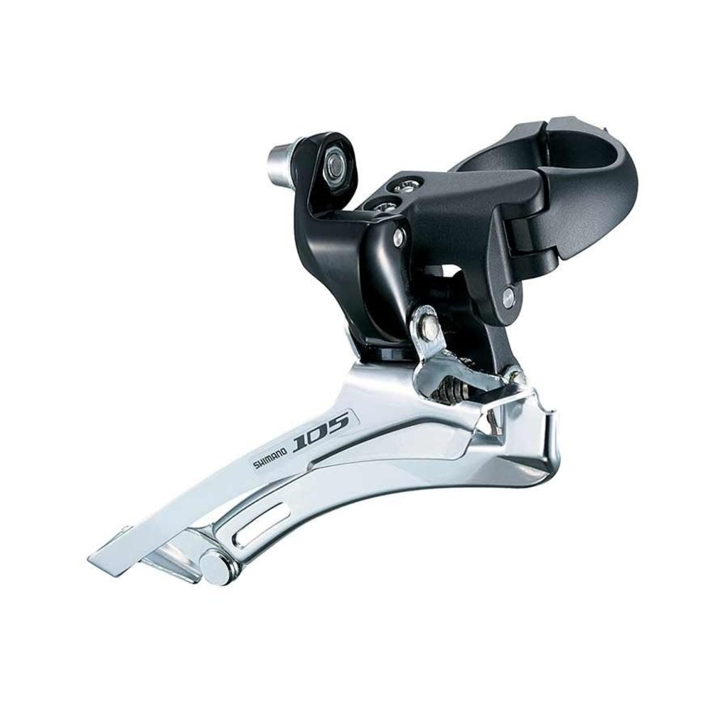 Shimano FRONT DERAILLEUR, FD-5700-L, 105, FOR FRONT DOUBLE & REAR 10-SPEED BAND TYPE(34.9MM), BLACK