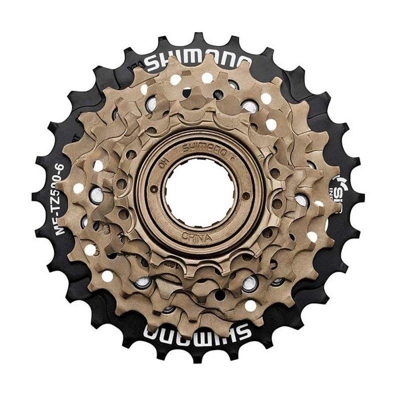 Shimano Freewheel - 6-spd - Shimano MF-TZ500-6 - 14-28T - Gold