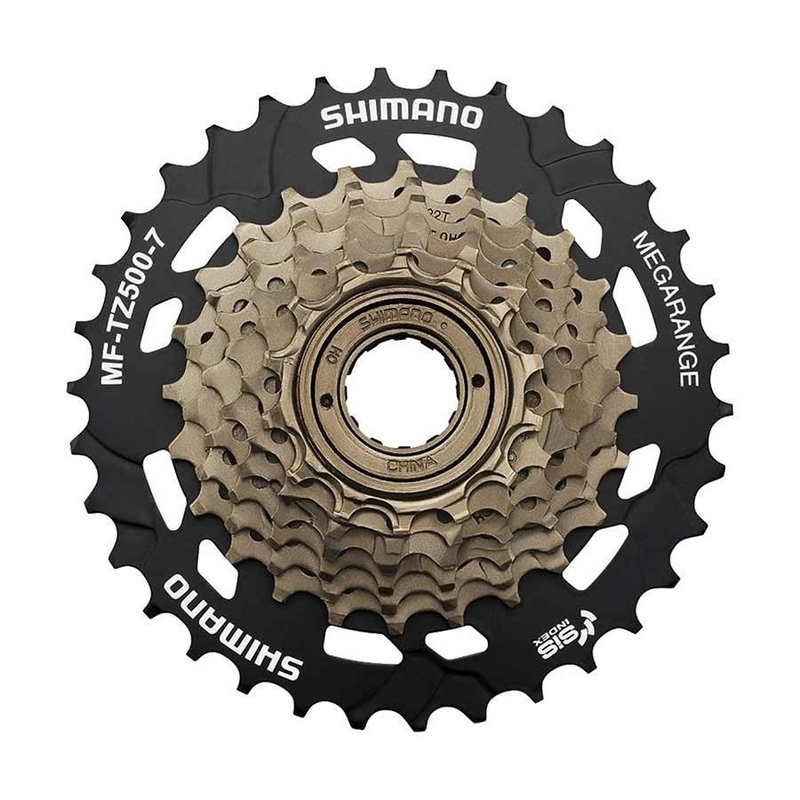 Shimano Freewheel - 7-spd - Shimano MF-TZ500-7 - Gold