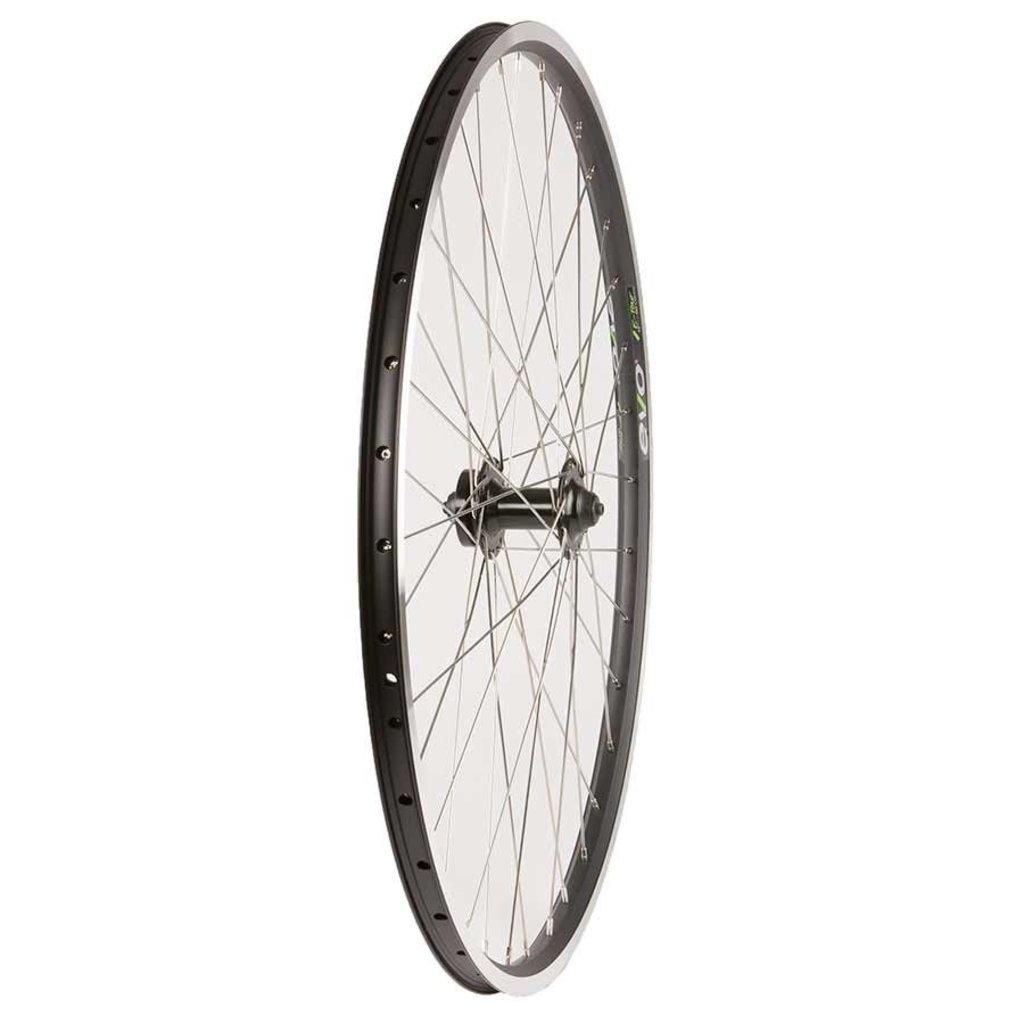 Evo Wheel Shop, Evo Tour 19 Black/ Formula DC-20, Wheel, Front, 700C / 622, Holes: 36, QR, 100mm, Rim and Disc IS 6-bolt