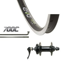 Evo 700 Front - WShop/Evo E-Tour 19 - Formula DC-20-QR (6-Bolt Disc) Hub - 36 Spokes - Black/Silver