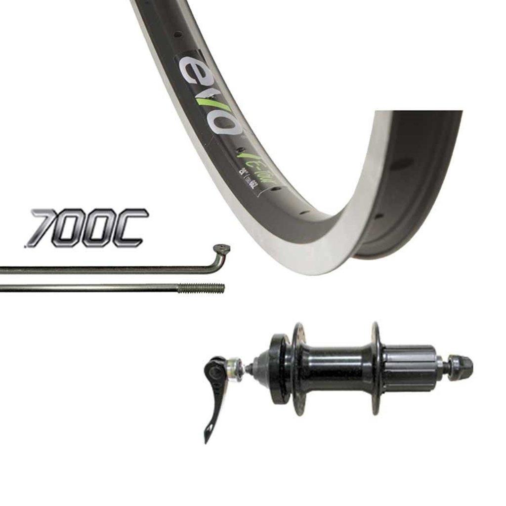 Evo 700 Rear Cassette - WShop/Evo Tour 19 - Formula DC-22-QR Hub (6Bolt Disc) - 36 Spokes - Black