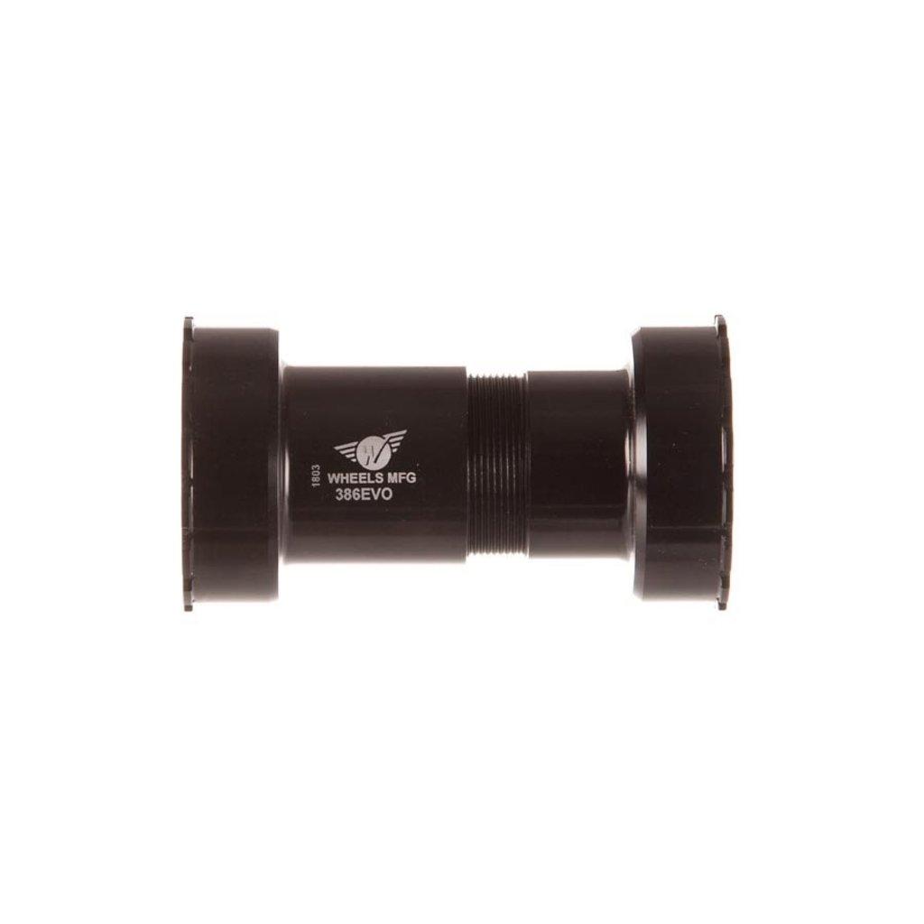 BB - WheelsMfg - 386EVO - ABEC-5 Angular Contact Brgs - Black