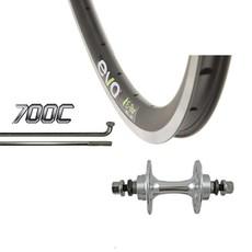 Evo 700 Rear Fixed - WShop/Evo E-tour 16 - Formula TH-51 Hub - 27mm Rim Depth - 32 Spokes - Black/Silver