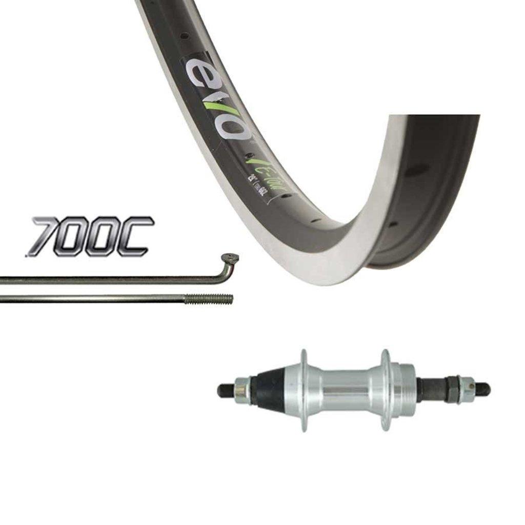 Evo 700 Arrière Rouelibre - WShop/Evo E-Tour 19 - Formula FM-31 Moyeux - 36 Rayons - Noir/Argent