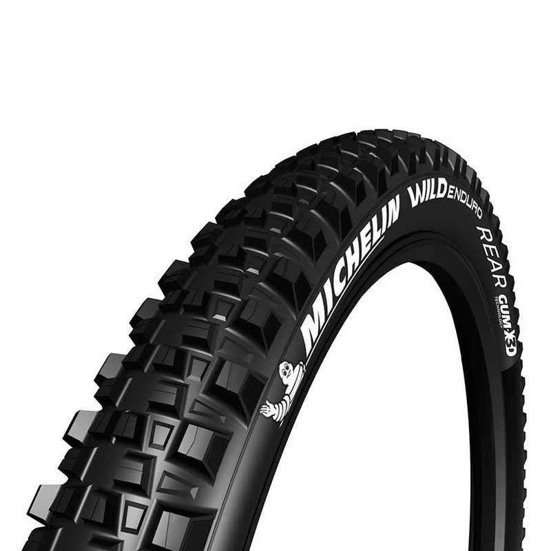 Michelin Michelin, Wild Enduro Rear, Tire, 27.5''x2.80, Folding, Tubeless Ready, GUM-X, GravityShield, 3x33TPI, Black