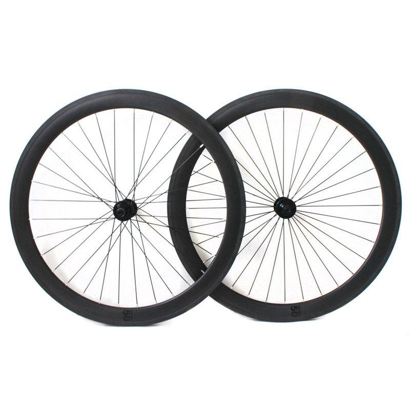 BLB - Wheel Set - Notorious Carbone - 700 fix - 50mm - 32T - Black / Silver