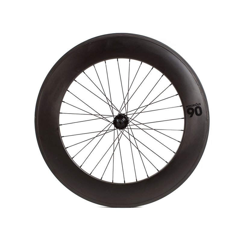 700 Arriere Fixed - Carbone 90mm - Formula Hub Noire - 32 Spokes - Black