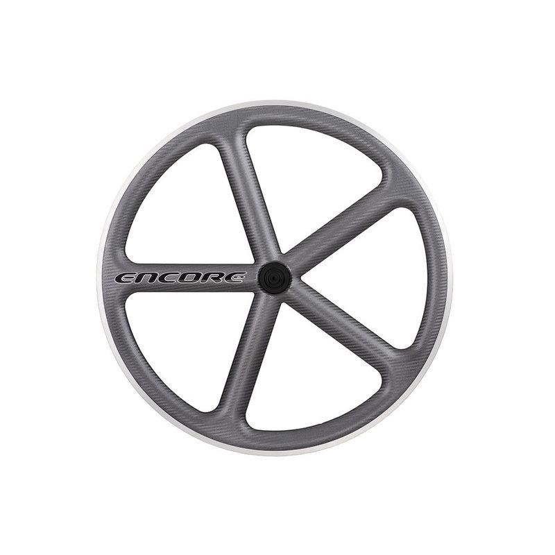 700 Roue Avant - Encore - Carbon - 700 fix - 5 Rayons - Gris Foncé
